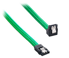 CableMod ModFlex Right Angle SATA 3 Cable 30cm Green