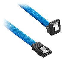 CableMod ModMesh Right Angle SATA 3 Cable 30cm Light Blue