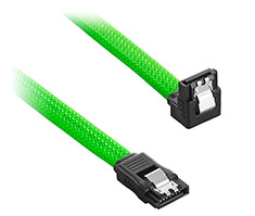 CableMod ModMesh Right Angle SATA 3 Cable 30cm Light Green