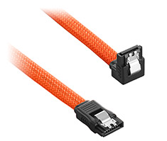 CableMod ModMesh Right Angle SATA 3 Cable 30cm Orange