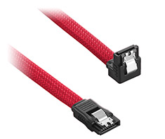 CableMod ModMesh Right Angle SATA 3 Cable 30cm Red