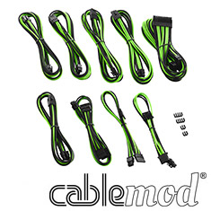 CableMod PRO ModMesh C-Series RMi & RMx Cable Kit Black/Green