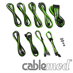 CableMod PRO ModMesh E-Series G3/G2/P2/T2 Cable Kit Black/Green