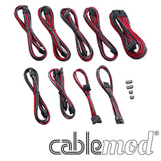 CableMod PRO ModMesh E-Series G3/G2/P2/T2 Cable Kit Carbon/Red