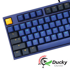 Ducky One 2 Horizon Blue Mech Keyboard Cherry Speed Silver