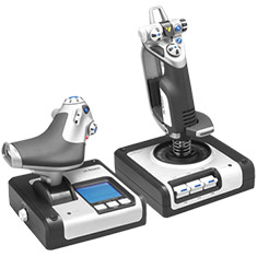 Logitech G X52 HOTAS Flight Simulator Control System