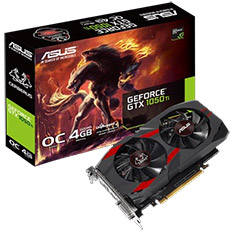 ASUS GeForce GTX 1050 Ti Cerberus OC 4GB