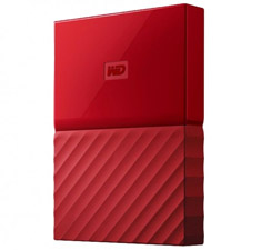 Western Digital WD My Passport 1TB 2.5in External HDD Red