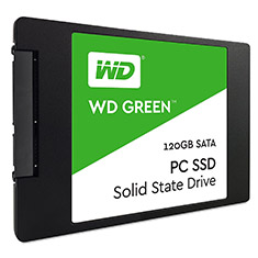 Western Digital Green 2.5in SATA SSD 120GB