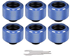 Thermaltake Pacific C-PRO PETG 16mm Fitting Blue 6PK