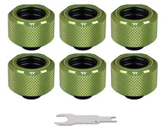 Thermaltake Pacific C-PRO PETG 16mm Fitting Green 6PK
