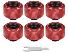 Thermaltake Pacific C-PRO PETG 16mm Fitting Red 6PK