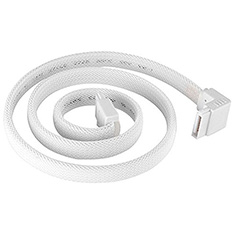 SilverStone CP08W Sleeved SATA Cable with 90deg Connector White