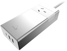 Aerocool ASA PT1A3U2 Aluminium PowerStrip 1 Outlet and 1 USB-C