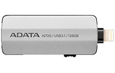 ADATA AI720 iMemory Lightning USB 3.1 Flash Drive 128GB