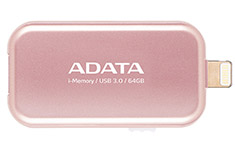 ADATA UE710 iMemory Lightning USB 3.0 Flash Drive 64GB Rose Gold
