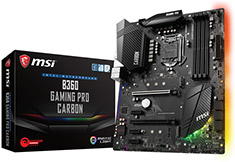 MSI B360 Gaming Pro Carbon Motherboard