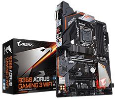 Gigabyte AORUS B360 Gaming 3 WIFI Motherboard