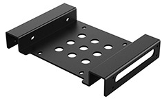 Orico Aluminium 5.25in to 3.5in/2.5in Hard Drive Caddy Black