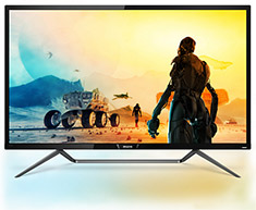Philips 436M6VBRAB 43in UHD HDR400 Monitor With Ambiglow