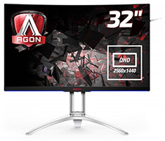 AOC AGON AG322QCX 31.5in Curved 144Hz FreeSync Gaming Monitor