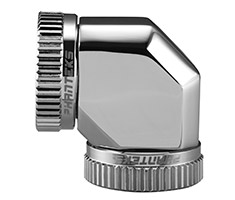 Phanteks Hard Tube 90 Degree 16mm Fitting Chrome