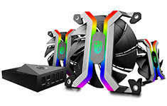 Deepcool Gamerstorm MF120 Aluminium Frameless RGB 120mm Fan Set