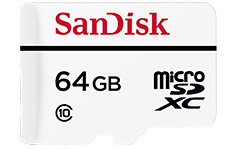 SanDisk High Endurance Video Monitoring Micro SD 64GB
