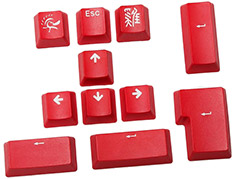 Ducky 11 Key PBT Doubleshot Keycap Set Carmine Red