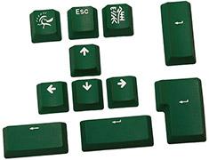 Ducky 11 Key PBT Doubleshot Keycap Set Forrest Green