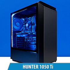 PCCG Hunter 1050 Ti Gaming System