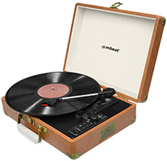 mbeat Retro USB Bluetooth Turntable Recorder