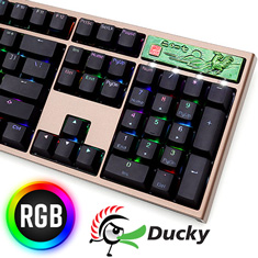 Ducky Year of the Rooster Edition PBT RGB Mech KB Cherry Blue