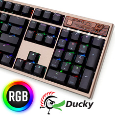 Ducky Year of the Rooster Edition PBT RGB Mech KB Cherry Brown