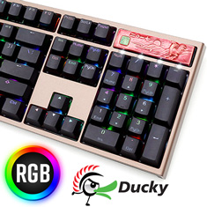 Ducky Year of the Rooster Edition PBT RGB Mech KB Cherry Red