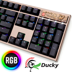 Ducky Year of the Rooster Edition PBT RGB Mech KB Cherry Silver