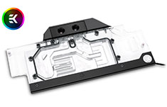 EK FC1070 GTX Ti ASUS RGB Full Cover Waterblock Nickel