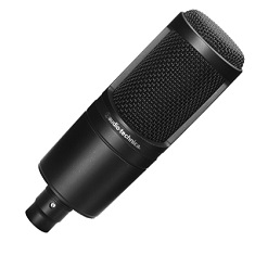 Audio-Technica AT2020 Black XLR Recording Microphone