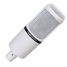 Audio-Technica AT2020 White XLR Recording Microphone
