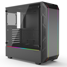 Phanteks Eclipse P350X Tempered Glass D-RGB Black