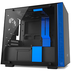 NZXT H200 Mid Tower Case Matte Black Blue
