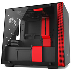 NZXT H200 Mini-ITX Case Black/Red