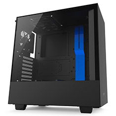 NZXT H500 Mid Tower Case Matte Black/Blue