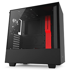 NZXT H500 Mid Tower Case Matte Black/Red