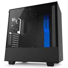 NZXT H500i Mid Tower Case Matte Black/Blue