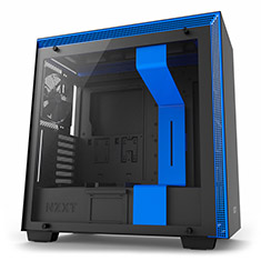 NZXT H700 Mid Tower Case Matte Black/Blue