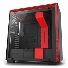 NZXT H700 Mid Tower Case Matte Black/Red