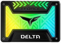 Team T-Force Delta RGB 2.5in SATA SSD 250GB Black