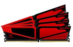 Team T-Force Vulcan 3000MHz 32GB (4x8GB) DDR4 Red
