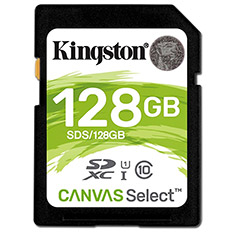 Kingston Canvas Select Class 10 SD Card 128GB
